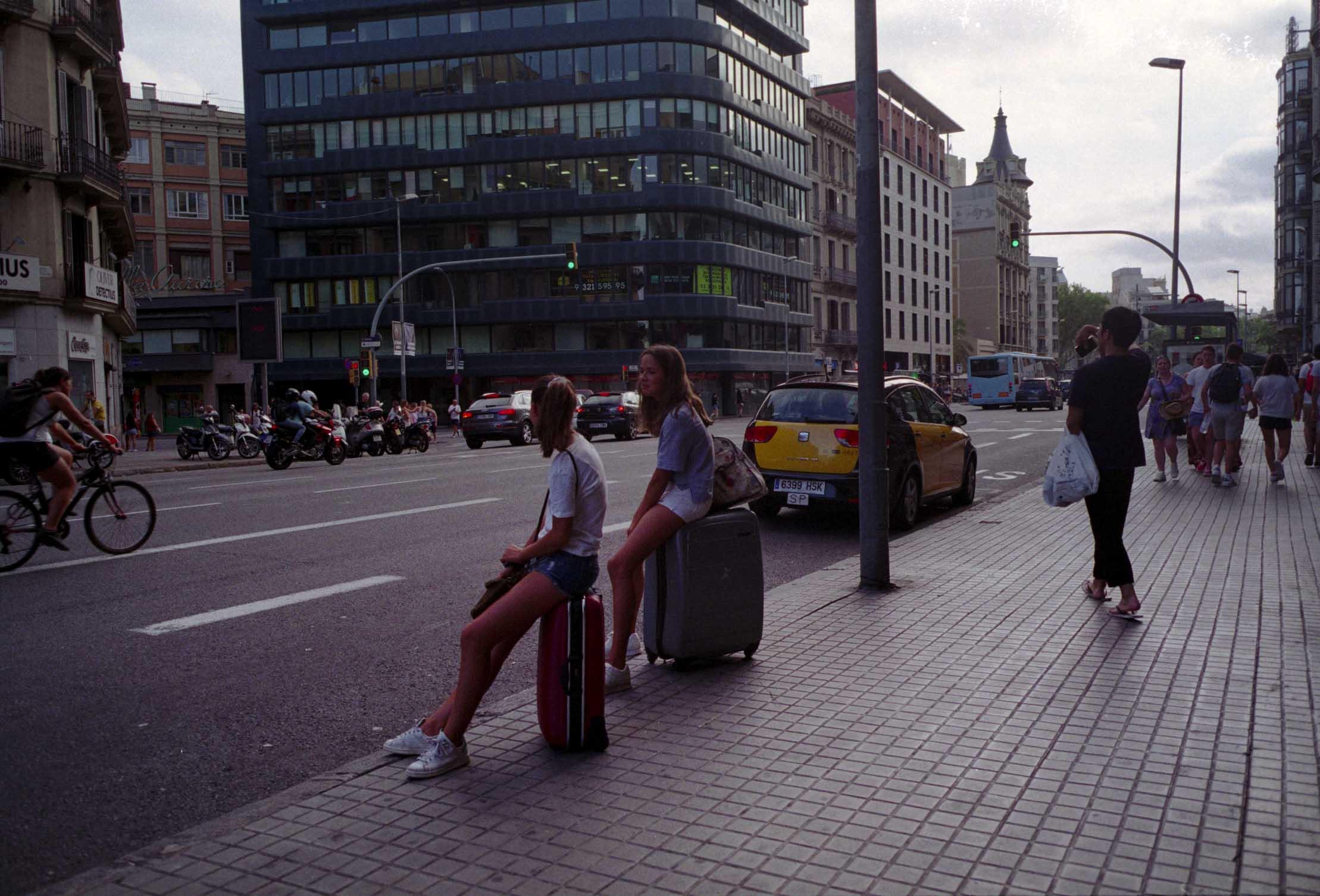 Barcelona, turismo, maletas
