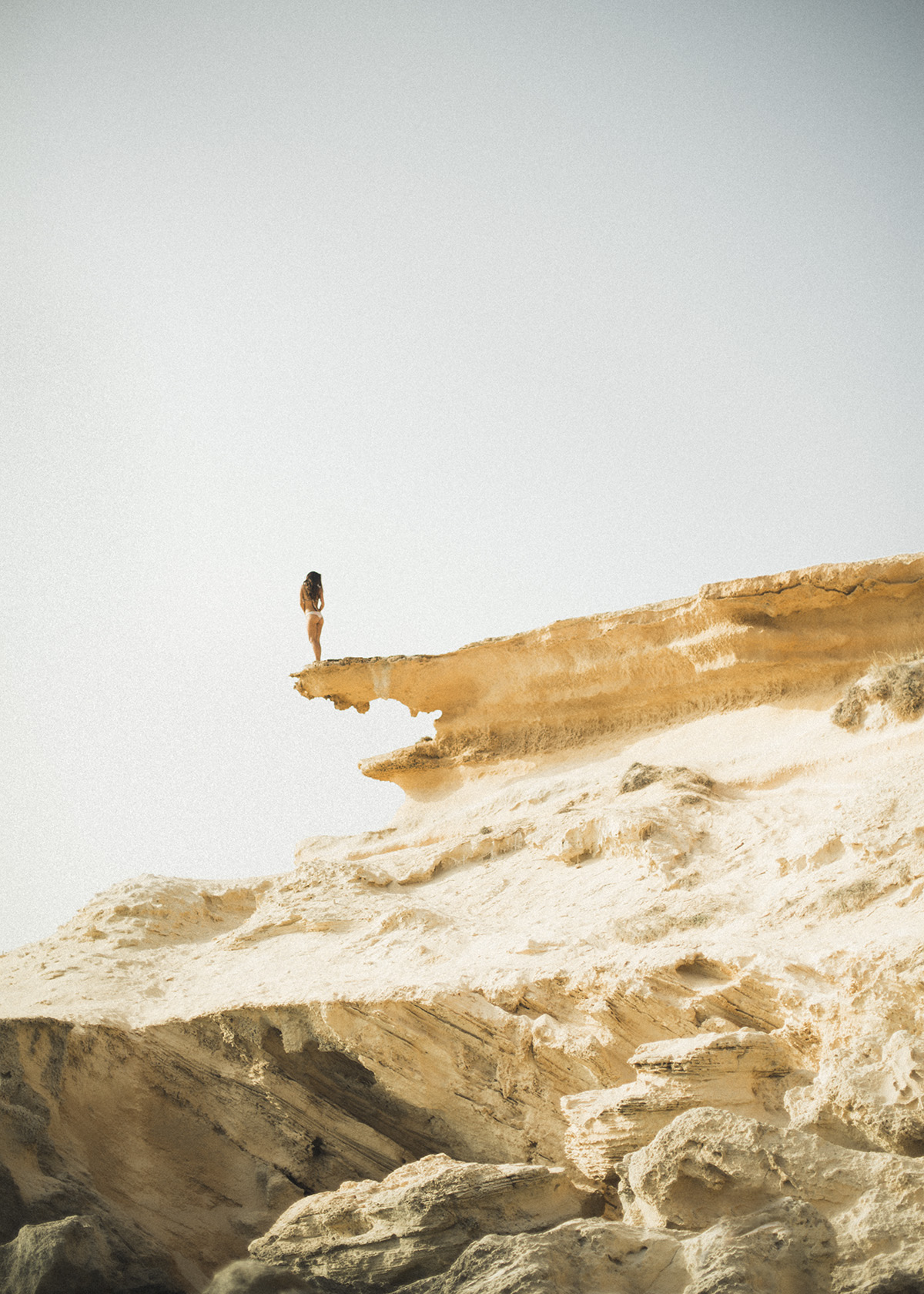 horizonte, acantilado, mar